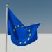 3d Flag flying model buy - render