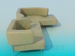 Sofa with a back-transformer