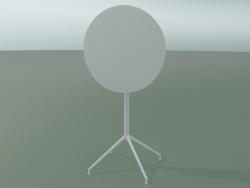 Round table 5717, 5734 (H 105 - Ø69 cm, folded, White, V12)