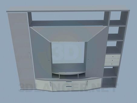 3d моделювання Шафа-стінка для вітальні модель завантажити безкоштовно