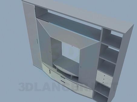 modelo 3D Armario de pared para el salón - escuchar