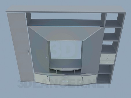 3d model Closet-wall for the living room - preview
