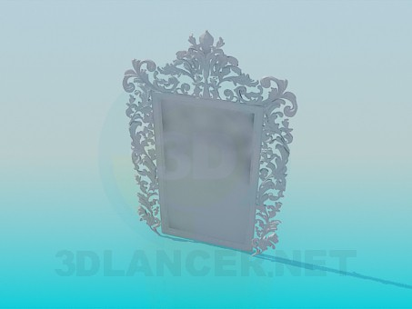 3d модель Дзеркало з орнаментом – превью