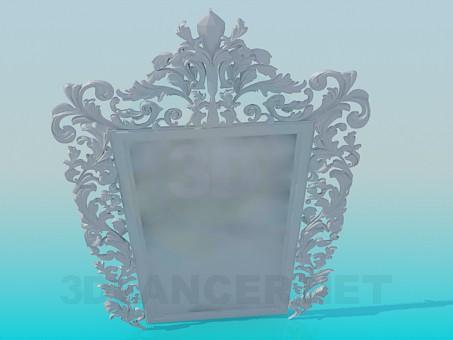 3d модель Зеркало с орнаментом – превью
