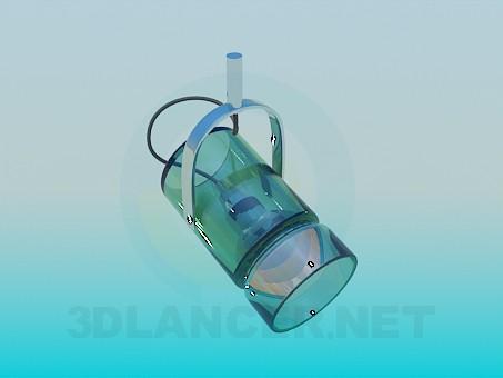 3d моделирование Светильник галогенный модель скачать бесплатно