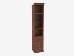 Bookcase narrow with open shelves (3841-24)