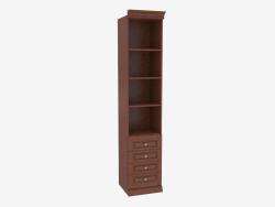 Шкаф книжный узкий с открытыми полками (3841-24)
