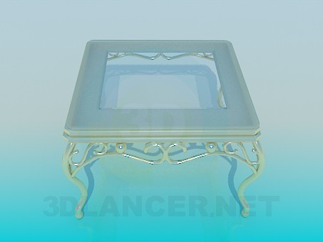 3d modeling Coffee table with gold legs model free download
