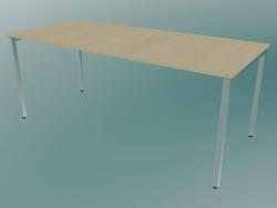 Table rectangulaire avec pieds carrés (1800x800mm)