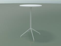 Стол круглый 5717, 5734 (H 105 - Ø69 cm, разложенный, White, V12)