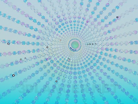 3d model Chandelier made of crystal glass balls - preview