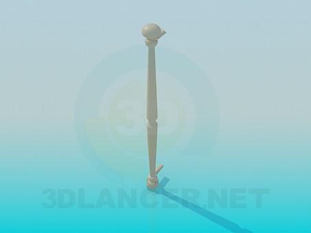 3d модель Длинная дверная ручка – превью