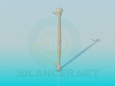 3d модель Довга дверна ручка – превью