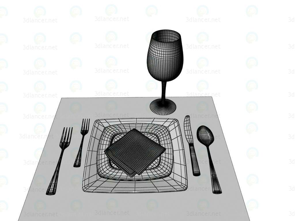 modelo 3D Vajilla - escuchar