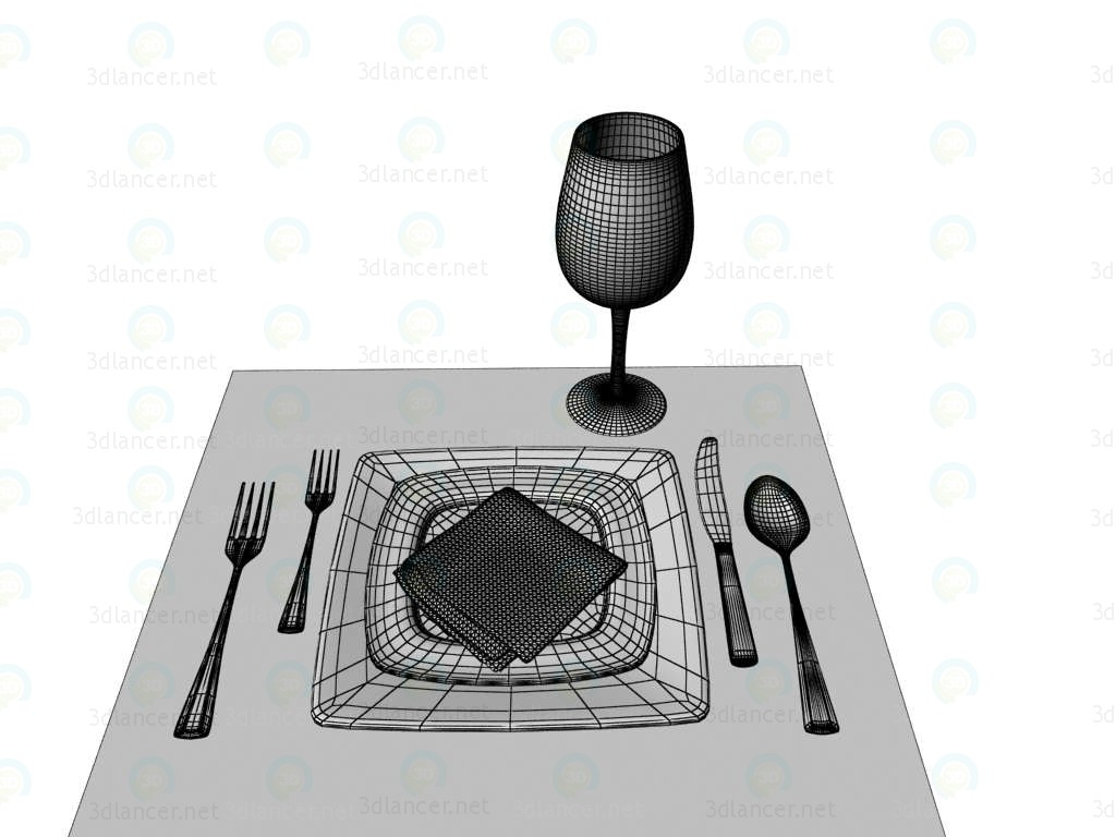 3d model Tableware - preview