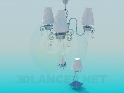 Chandelier, sconces and light bulb included