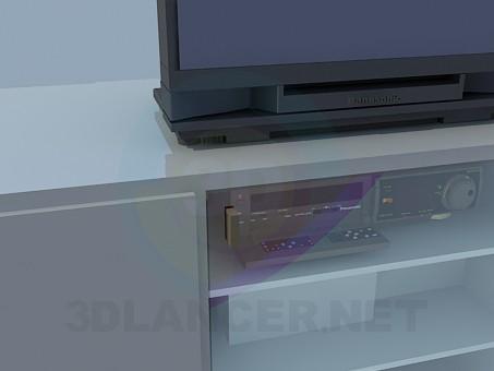 modelo 3D Racks de piso de pie para TV - escuchar