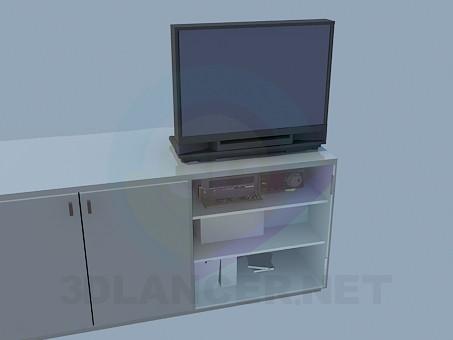 3d модель Тумба с полочками под ТВ – превью