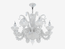 Chandelier made of glass (S110188 8white)