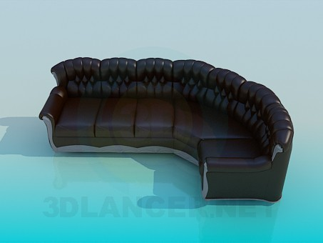 3d modeling Sofa Corner model free download