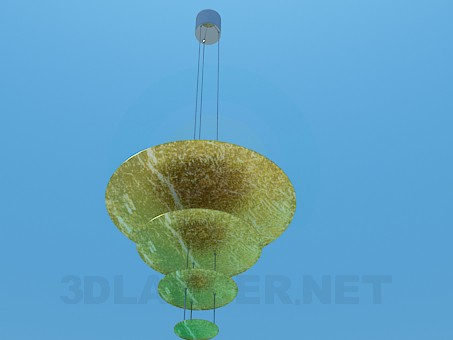 3d model Chandelier with metal disks - preview