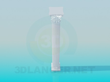 3d modeling Colonna model free download