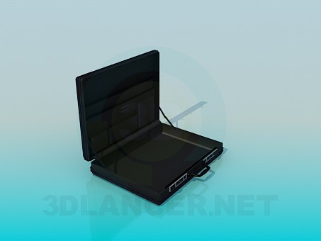 3d model Business briefcase - preview