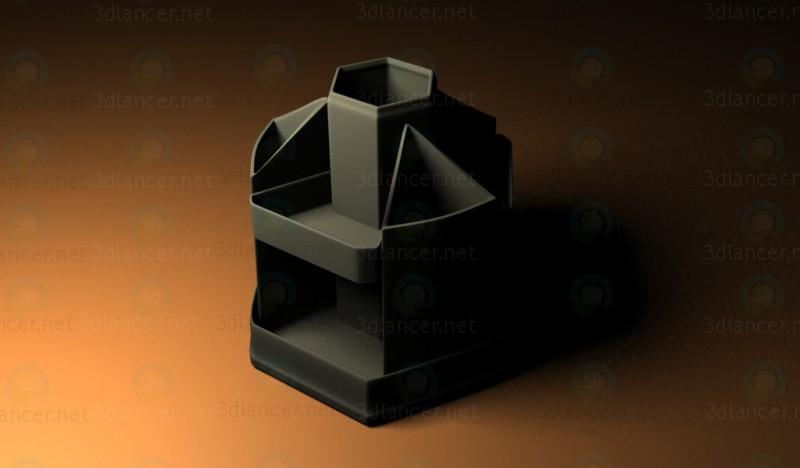 3D modeli Ofis, banka donatımı için stand - önizleme