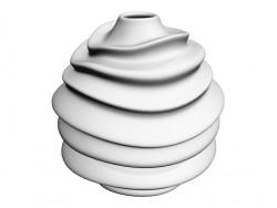 Vase blanc 35 Twist