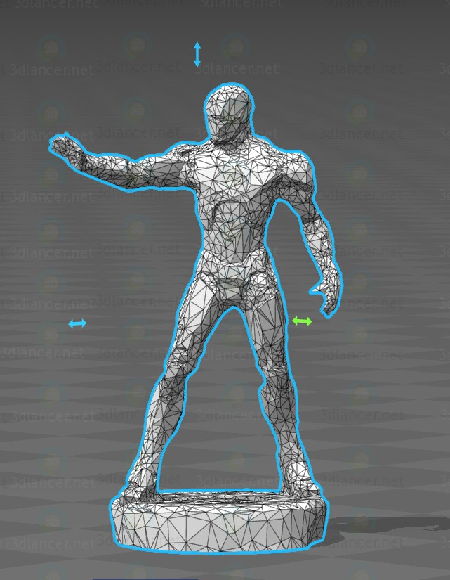 modèle 3D Iron Man - preview