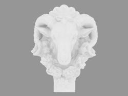 Scultura in marmo Testa di una ram