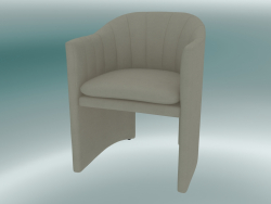 Dining chair, office Loafer (SC24, H 79cm, 57x59cm, Velvet 14 Pearl)