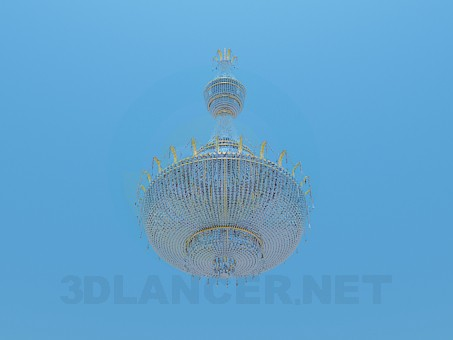 3d model Crystal chandelier for large rooms - preview