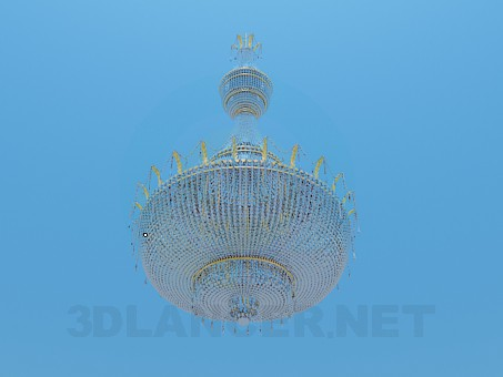 modelo 3D Lámpara chandelier de cristal para salas grandes - escuchar