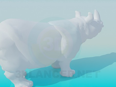3d модель Носорог – превью