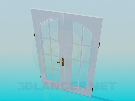 3d model Double door - preview