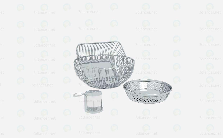 3d моделирование Металлическая посуда модель скачать бесплатно