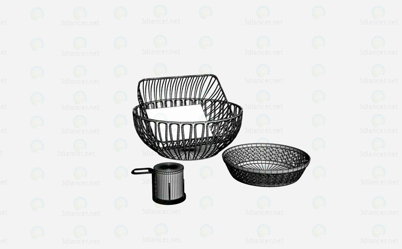 3d модель Металлическая посуда – превью