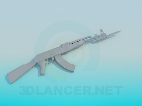 3d model AK-47 - preview