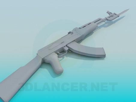 modelo 3D AK-47 - escuchar