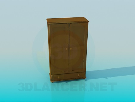 3d modeling Small wardrobe model free download