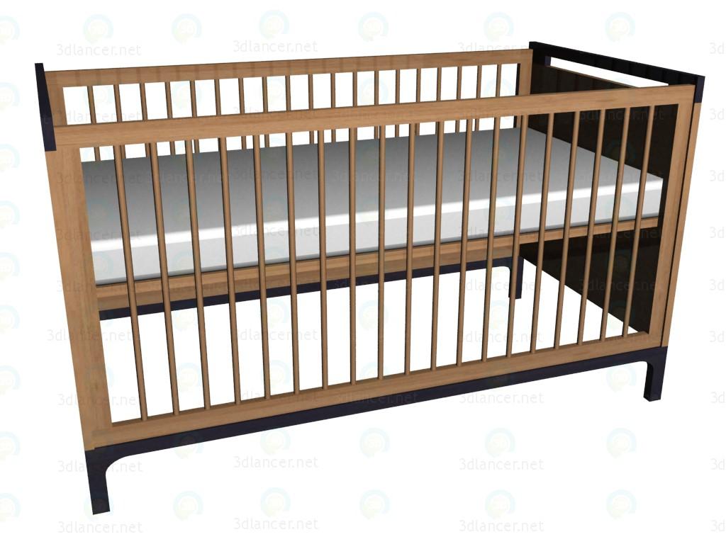 3d модель Кроватка – превью