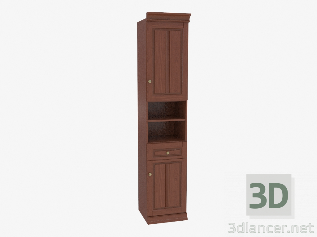 3d model The bookcase is narrow with open shelves in the middle (3841-32) - preview