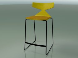 Stackable Bar Stool 3712 (with cushion, Yellow, V39)