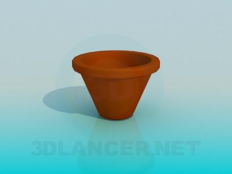 3d модель Горщик для кімнатної квітки – превью