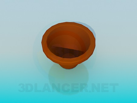 3d model Pot for the flowers - preview
