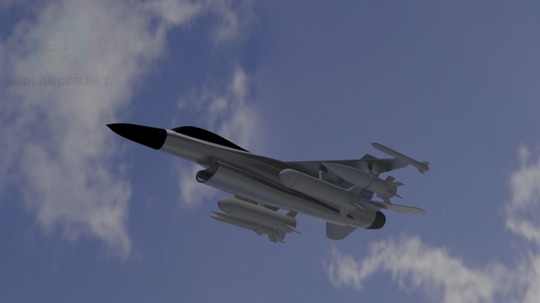 3d model F16 Raptor - preview