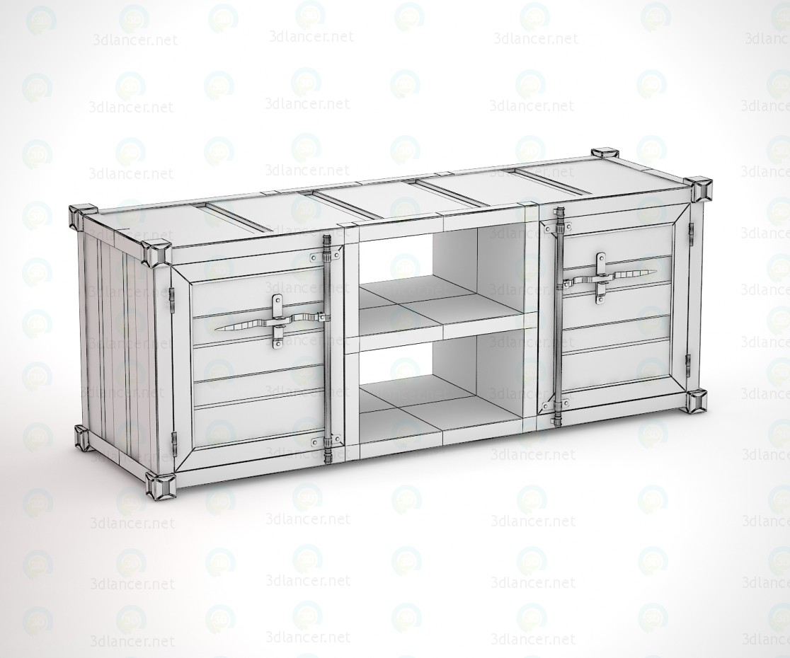 3d model Sea Container HQ TV cabinet - preview
