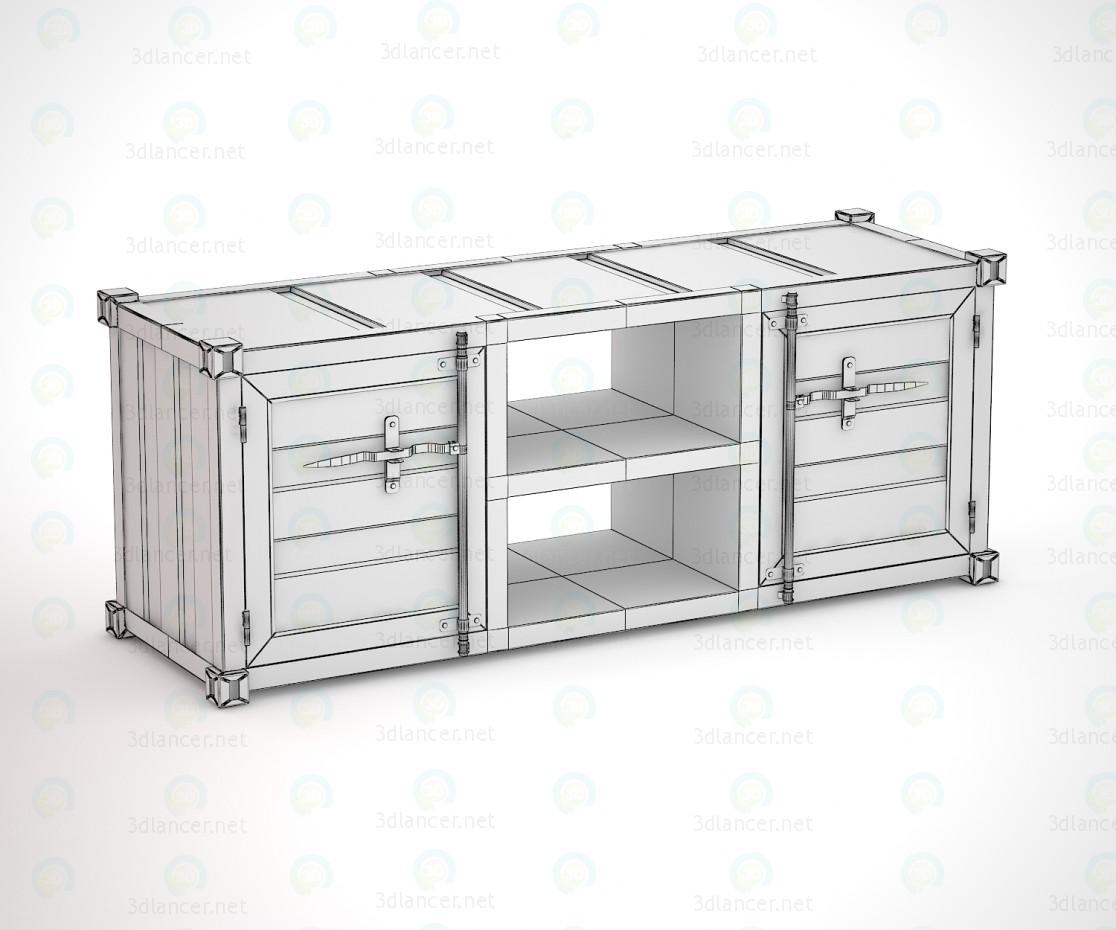 3d модель Тумба под телевизор в виде морского контейнера – превью