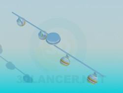 Suspensão de lâmpada de halogênio